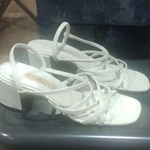 Vintage Charlies Strappy Box Square Toe Heel Shoes